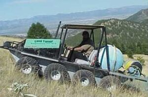 ATV with attachments
