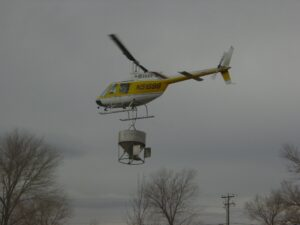 Aerial Seeding with Helicopter