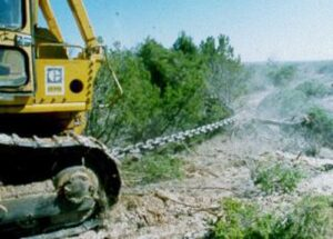 Chaining for shrub/tree removal