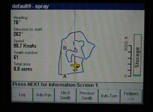 Spray pattern from GPS tracking